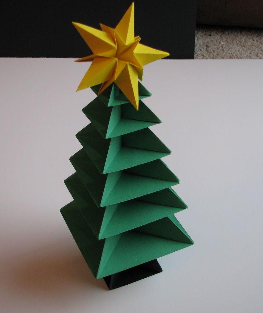 New Years origami tree