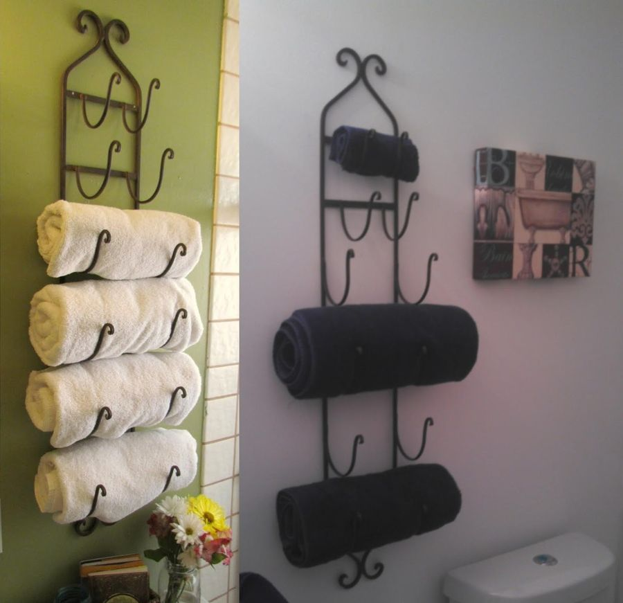 Bathroom Towel Shelves